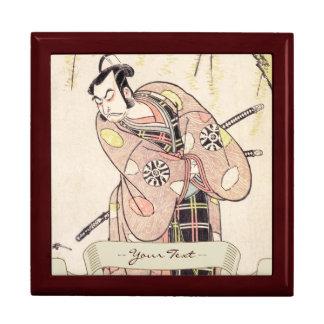 The First Nakamura Nakazo as a Samurai Standing Gift Box