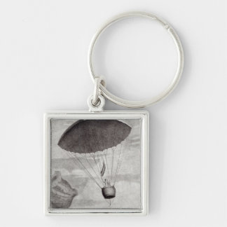 The First Parachute Descent Keychain