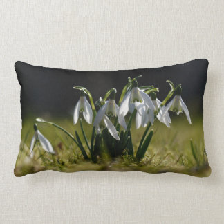 The first snowdrops lumbar pillow