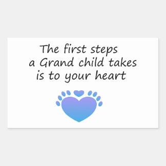 The First Steps Unique Grandchild Sticker