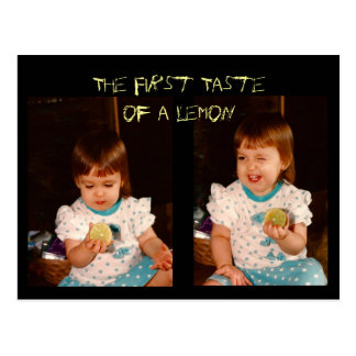 The First Taste of a Lemon Postcard