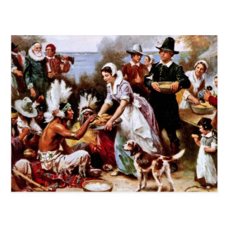 The First Thanksgiving, 1621. Postcards