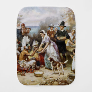 The First Thanksgiving Burp Cloth