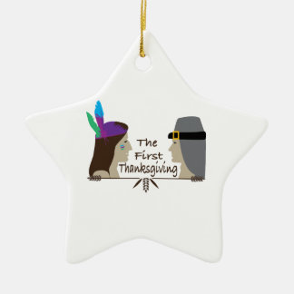 The First Thanksgiving Christmas Ornaments