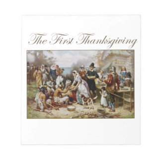 The First Thanksgiving Notepad