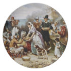 The First Thanksgiving Painting Plate
