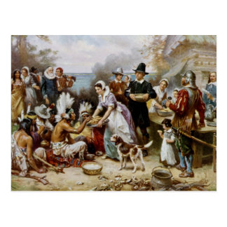 The First Thanksgiving Postcard
