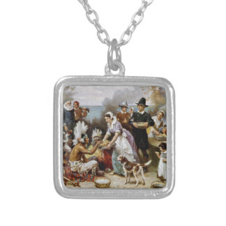 The First Thanksgiving Silver Plated Necklace