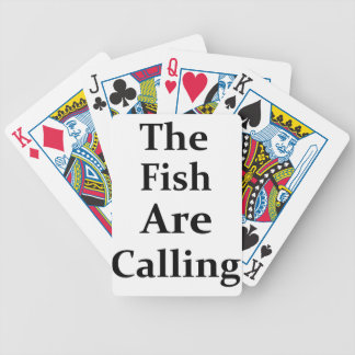 The Fish Are Calling Bicycle Playing Cards