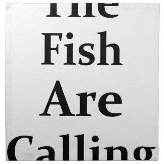 The Fish Are Calling Napkin