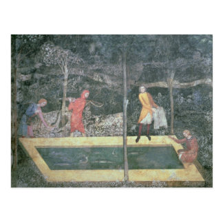 The Fish Pond, from the Stag Room, 1343 Postcard