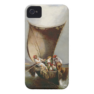 The Fisherman's Family (oil on canvas) iPhone 4 Case-Mate Cases