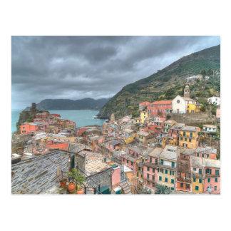 The fishing village of Vernazza, Cinque Terre, Ita Postcard