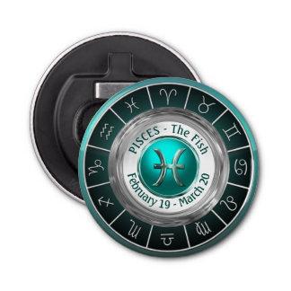 The Fish's Horoscope Symbol Button Bottle Opener