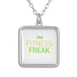 The Fitness Freak-Lemon Silver Plated Necklace