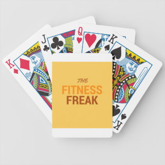 The Fitness Freak-Orange Bicycle Playing Cards