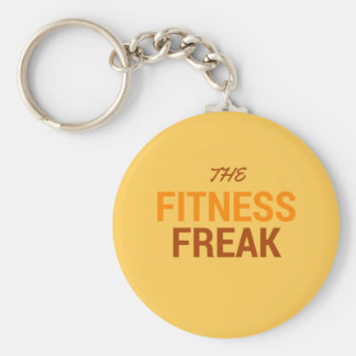 The Fitness Freak-Orange Keychain