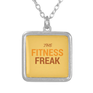 The Fitness Freak-Orange Silver Plated Necklace