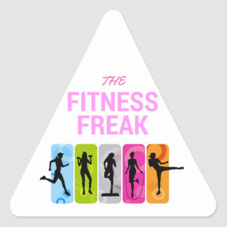 The Fitness Freak-Rose Triangle Sticker