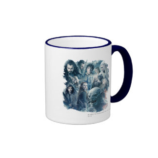 The Five Armies Character Graphic Ringer Coffee Mug
