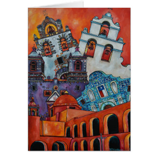 The Five Missions San Antonio Greeting Card