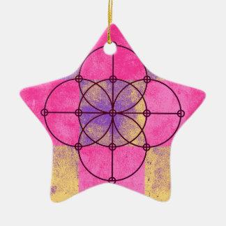 The Five Sacred Circles Ceramic Ornament