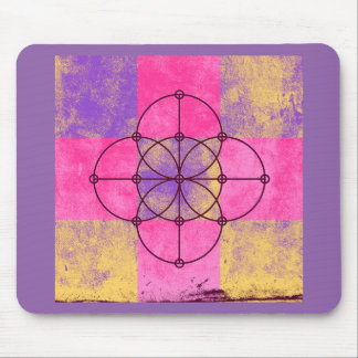 The Five Sacred Circles Mouse Pad