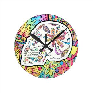 The Five Senses Round Clock