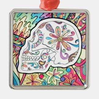 The Five Senses Silver-Colored Square Ornament
