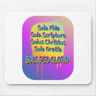 The Five Solas Mouse Pad