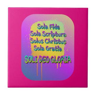 The Five Solas Tiles