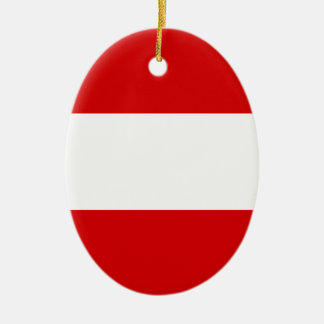 The Flag of Austria Ceramic Ornament