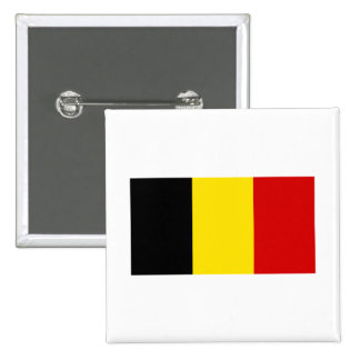 The Flag of Belgium Pinback Buttons