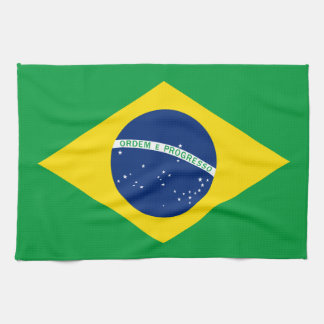 The Flag of Brazil Hand Towels