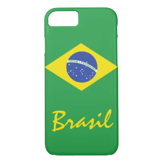 The Flag of Brazil with Native Text iPhone 7 Case