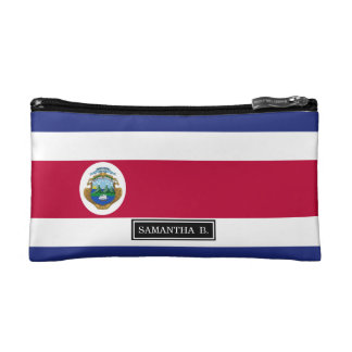 The Flag of Costa Rican Makeup Bags