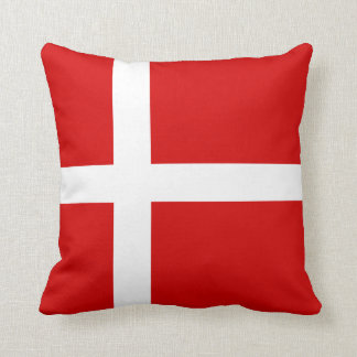 The Flag of Denmark Throw Pillow