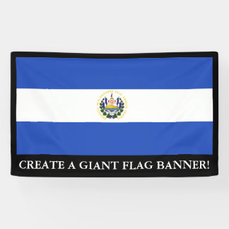 The Flag of El Salvador Banner