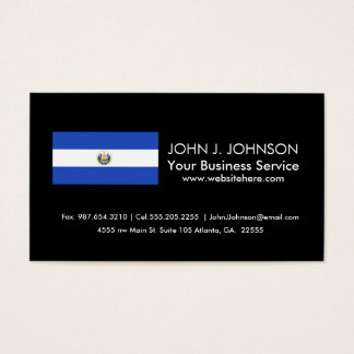 The flag of El Salvador Business Card
