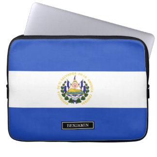 The flag of El Salvador Laptop Sleeves