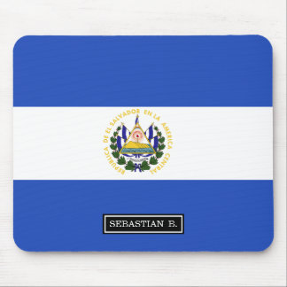 The flag of El Salvador Mouse Pad