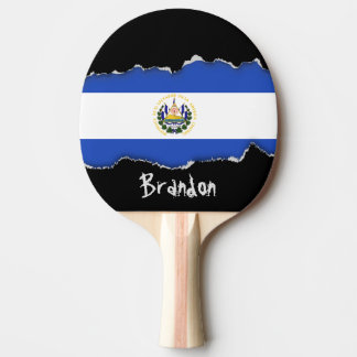 The flag of El Salvador Ping-Pong Paddle