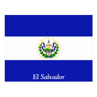 The Flag of El Salvador. Postcard