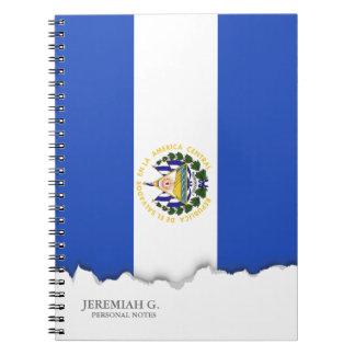 The flag of El Salvador Spiral Note Book