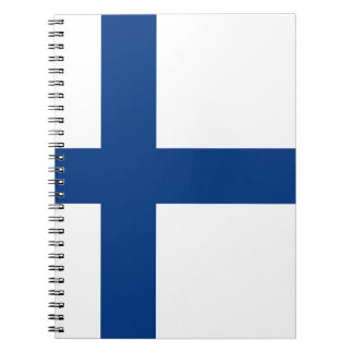 The Flag of Finland - Siniristilippu Spiral Notebooks