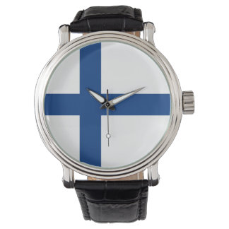 The Flag of Finland - Siniristilippu Wrist Watch