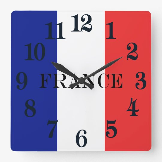 The flag of France or Tricolore Clocks
