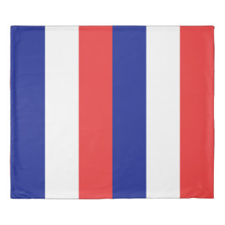 The flag of France or Tricolore Duvet Cover
