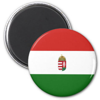 The flag of Hungary 2 Inch Round Magnet