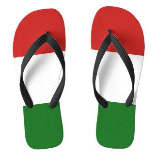 The flag of Hungary Flip Flops